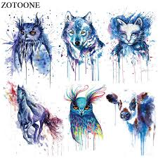 <b>ZOTOONE Colorful</b> Dog Cat Owl Patch Jeans Iron on Transfer for ...