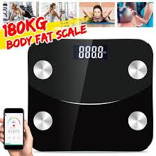 <b>180KG</b> Digital <b>Body Fat Scale Body Fat Scale</b> LCD Smart Weighing ...
