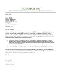 student cover letter example sample cover letter for student