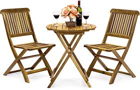 Best Choice Products 3-Piece Acacia Wood Folding ... - Amazon.com