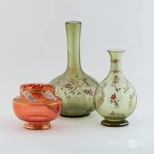 <b>Набор</b> из трех <b>декоративных ваз</b> Светло-зеленое и розовое ...