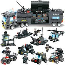 China <b>City Police Swat Truck</b> Building Blocks Sets Ship Vehicle ...