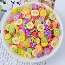 Julie Wang <b>40PCS</b> Resin Artificial Fruit Slice Charms Slime Fimo ...