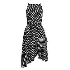 <b>Womens</b> Vintage Polka Dot <b>Maxi Dress Sexy Boho</b> Summer Beach ...