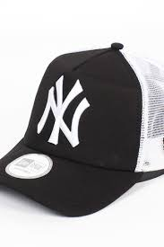 <b>Бейсболка NEW ERA Clean</b> Trucker NY Black (Black-White, O/S ...