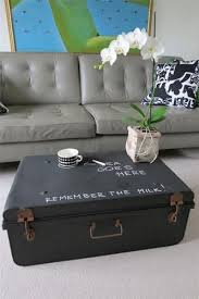 room vintage chest coffee table: black metal chalk board vintage steamer trunk chest coffee table toy box ebay love