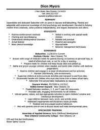 babysitter resume sample template design babysitter resume objective great nanny resume example babysitter for babysitter resume sample 3761