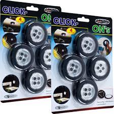 trademark global under cabinet lighting super bright click on stick up led light set of 8 72 1243 2 cabinet lighting 2