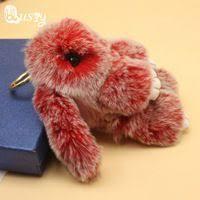 Double Color Cute Animal Fluffy <b>Bunny Keychain</b> 8 color 14-<b>15 cm</b> ...