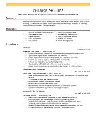 Entry Level Mechanic Resume Examples   sample resume for social worker