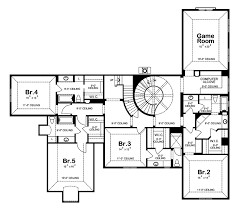 Hampden Crest Cottage Home Plan D    House Plans and MoreLuxury House Plan Second Floor   D    House Plans and More