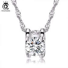ORSA JEWELS <b>Elegant</b> Square Pendant with Brilliant <b>Heart</b> and ...