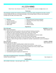best store manager resume example livecareer create my resume