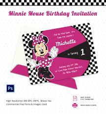 minnie mouse birthday invitation psd ai minnie mouse birthday party invitation card template