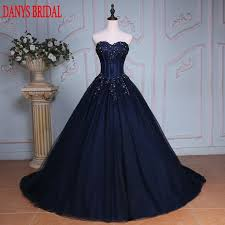 <b>Navy Blue</b> Ball Gown Princess <b>Quinceanera</b> Dresses Girls Beaded ...