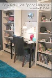 easy kids work space makeover wwwsettingforfourcom beautiful home office makeover sita