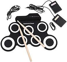 Portable Kit Hand Roll Electronic Drum USB <b>Silicone</b> Simulator ...