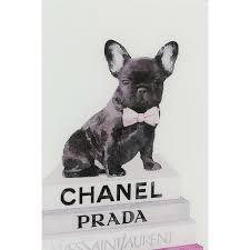Picture Glass <b>Fashion Dog</b> 80x60cm – Grey Interior
