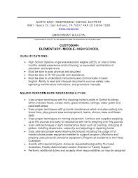 custodian resume samples template custodian resume samples