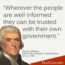 Thomas Jefferson Quotes On Education. QuotesGram via Relatably.com