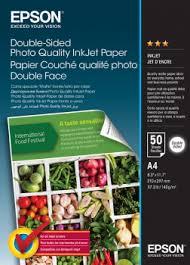 Double-Sided <b>Photo Quality</b> Inkjet Paper - A4 - 50 Sheets - <b>Epson</b>