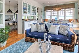 open plan kitchen living dining living room beach style interesting ideas with striped throw pillow beach style living room furniture
