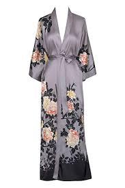 Old Shanghai <b>Women's</b> Kimono Robe <b>Long</b> - Watercolor <b>Floral</b> ...