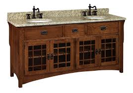 bathroom quot mission linen: amish  quot lancaster mission bathroom double vanity cabinet