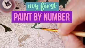 My first <b>paint by number</b> - YouTube