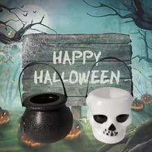 3 шт. Хэллоуин <b>конфеты</b> чайник Ужас <b>Череп</b> ведьмы Jar котел ...