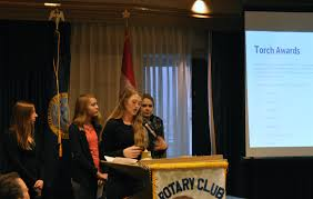 lake city high business professionals of america at sunrise rotary they joined our annual poinsettia fundraiser and over 100 plants to benefit their club pictured are emily behrens anna shaw cameron cates and erin