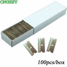CNGZSY <b>100pcs Metal</b> Blades Safety Razor Scraper Glue Knife ...