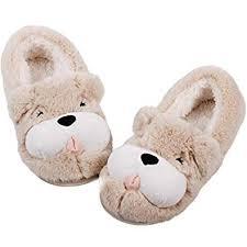 Cute Dog Memory Foam Animal House Slippers for ... - Amazon.com