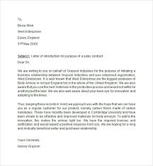 Sample Letter of Introduction LiveCareer