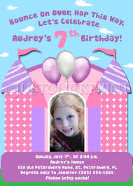 bounce house fun zebra girls birthday invitation middot just click bounce house fun zebra girls birthday invitation thumbnail 1