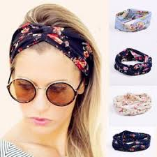 Women Flora Printed Headband Rope Elastic <b>Hair</b> Bands <b>Hair Gum</b> ...