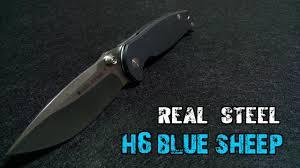 Обзор <b>ножа</b> Real Steel H6 <b>Blue Sheep</b>. Голубой барашек. - YouTube