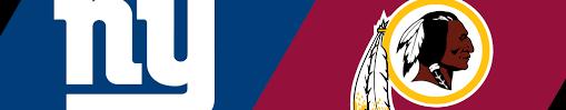 Image result for Giants vs. Redskins