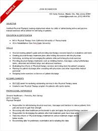 resume template  physical therapy resume template physical therapy    designing home exercises physical therapy resume template