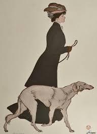 w walking borzoi russian wolfhound dog vintage poster canvas w walking borzoi russian wolfhound dog vintage poster