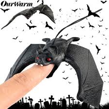 Online Shop <b>OurWarm</b> Halloween Lifelike Fake Bat <b>Hanging</b> Scene ...