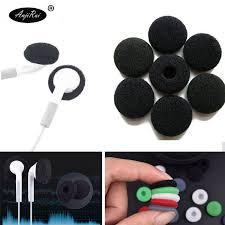<b>10 pcs</b> ANJIRUI <b>18mm</b> Black <b>Soft</b> Foam Earbud Headphone Ear ...
