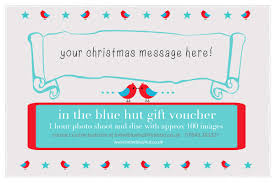 christmas personalised gift vouchers in the blue hut photography