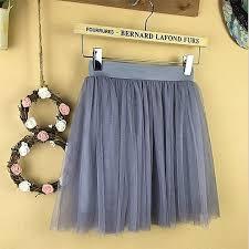 2019 Summer Vintage Skirts <b>Womens Elastic High</b> Waist Tulle Mesh ...