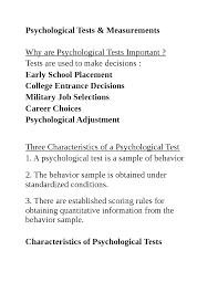 psychological assessment review this is only a preview