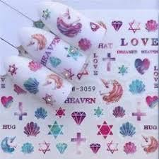 <b>YWK</b> 1 Sheet Pink Flower <b>Water</b> Transfer Slider for <b>Manicure Nail Art</b> ...