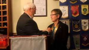 rotary club welcomes their new president review