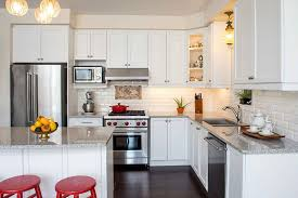 beautiful white kitchen cabinets: white kitchen design with granite countertops