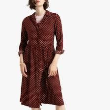 <b>Платье</b>-рубашка с длинными рукавами с принтом рисунок/фон ...