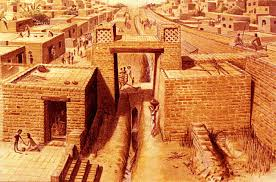 study sheds more light on collapse of harappan civilization this is an artist s reconstruction of the gateway and drain at the city of harappa